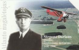 LITUANIA. URMET. 100 Years Of The Birth Of S.Dariaus. AVIONES. LT-LTV-M017. (100). - Aviones