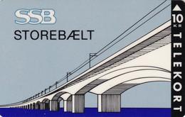 Denmark, KP 024, SSB, Storebælt, Bridge, Only 3.000 Issued, 2 Scans - Dänemark