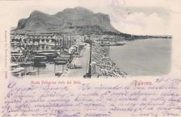 CARTOLINA - PALERMO - MONTE PELLEGRINO VISTO DAL MOLO - VIAGGIATA PER PISA ( FRANCOBOLLO ASPORTATO) - Palermo