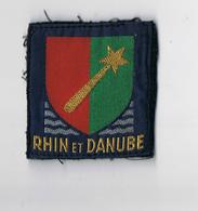 ECUSSON TISSU RHIN ET DANUBE , BON ETAT - 1 Iere ARMEE FRANCAISE 1939 1945 - Ecussons Tissu