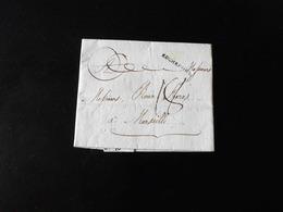 LETTRE DE ROCHEFORT POUR MARSEILLE  -  1790  - - Postmark Collection (Covers)