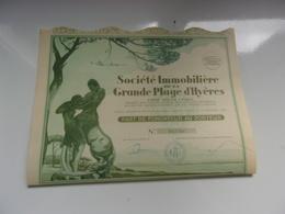 Immobilière De La GRANDE PLAGE D'HYERES - Shareholdings