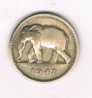 2 FRANC 1947 BELGISCH CONGO /6083/ - 1945-1951: Regentschaft