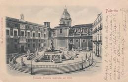 CARTOLINA - PALERMO - FONTANA PRETORIA COSTRUITA NEL 1550 - VIAGGIATA PER PISA ( FRANCOBOLLO ASPORTATO) - Palermo