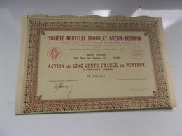 Chocolat Guérin Boutron (1934) - Actions & Titres