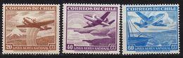 CHILE [1950] MiNr 0448 Ex ( */mh ) [01] Flugzeuge - Chile