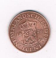 1 CENT 1920 NEDERLANDS INDIE /6084/ - [ 4] Colonies
