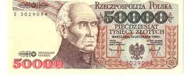 Poland P158   50000 Zlotych 1993  Unc - Polonia