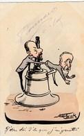 CPA Peinte à La Main Caricature Satirique Politique H. BRISSON Cloche Bell Sénat Illustrateur A. MOLYNK (2 Scans) - Satiriques