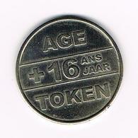 //  AGE TOKEN + 16 ANS  JAAR - België
