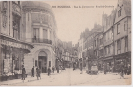 Bv - Cpa BOURGES - Rue Du Commerce - Société Générale - Bourges