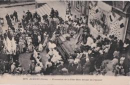 Bv - Rare Cpa AJACCIO - Procession De La Fête Dieu Devant Un Reposoir - Ajaccio