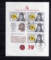 CZECHOSLOVAKIA CESKOSLOVENSKO CECOSLOVACCHIA 1988 PRAGA 88 PRAHA PRAGUE KING GEORGE BLOCK SHEET USED - Blocchi & Foglietti