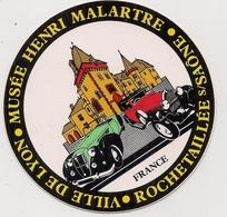 Autocollant -  Musée Henri Malartre  - Ville De Lyon  - ROCHETAILLEE S/ SAÔNE (automobiles) - Autocollants