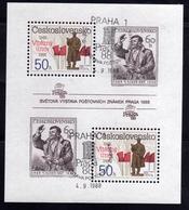 CZECHOSLOVAKIA CESKOSLOVENSKO CECOSLOVACCHIA1988PRAGA88 February Events 1948 Klement Gottwald BLOCK SHEET USED FIRST DAY - Blocchi & Foglietti