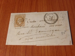 SAINT AUBAN  ( 06) GC 3509  Superbe - Indice 8 ( Pothion ) - Lettre Ecrite 1868   (port à Ma Charge ) - Marcofilia (sobres)