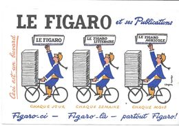 BUVARD BLOTTING PAPER PRESSE LE FIGARO SES PUBLICATIONS ILLUSTRATEUR SAVIGNAC - Andere