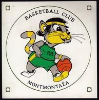 Basketball Club Montmontaza, Zagreb, Croatia / Mascot / Adesivo Sticker Label Autocollant / Pallacanestro - Apparel, Souvenirs & Other