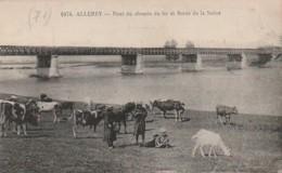 *** 71  ***  ALLEREY Pont Du Chemin De Fer Et Bords De La Saône - TTB - France