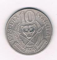 10 MAKUTAS 1973 CONGO /6097/ - Congo (République 1960)