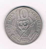 10 MAKUTAS 1973 CONGO /6097/ - Congo (República 1960)