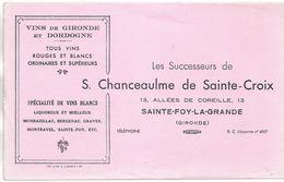 BUVARD BLOTTING PAPER VINS DE GIRONDE & DORDOGNE SAINTE-FOY-LA-GRANDE 33 GIRONDE - Liqueur & Bière