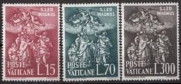 Vaticano 1961 Uf. 301/303 Papa Pope Leone Magno Bassorilievo Marmo Basilica S. Pietro Roma Full Set MNH - Papi