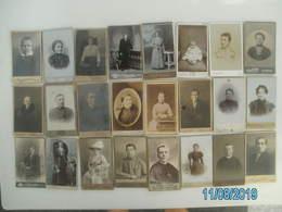 GROSSES LOT - CDV FOTOS - 100 Stück - 60 Klein 40 Großformat - Albums & Collections
