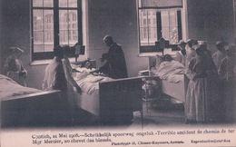 Contich 21 Mai 1908 Schrikkelijk Spoorweg Ongeluk Mgr Mercier, Au Chevet Des Blessés - Kontich