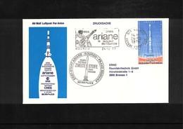 France / Frankreich 1979 Kourou  Space / Raumfahrt Launching Of  Ariane Interesting Cover - Briefe U. Dokumente