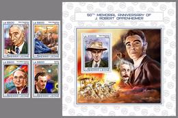 SIERRA LEONE 2017 - R.Oppenheimer, A. Einstein - YT 6957-60 + BF1199; CV= 32.8 € - Albert Einstein