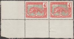 Congo Français 1900 Y&T 29 Et 29c Xx. Défense D'éléphant De Gauche Tronquée à Droite. Fond Déplacé. Panthère. - Roofkatten