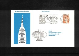 France / Frankreich 1981 Kourou  Space / Raumfahrt Launching Of  Ariane Interesting Cover - Briefe U. Dokumente