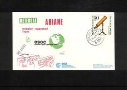 Germany 1981 Space / Raumfahrt Launching Of  Ariane Interesting Cover - Briefe U. Dokumente