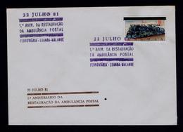 ANGOLA 1981 Trains Courrier Mail Railway Ambulance Postal Luanda - Malanje 1st Anniv Renew (scarce Item) Portugal Sp6050 - Correo Postal