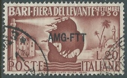 1950 TRIESTE A USATO FIERA DI BARI - RA30-2 - Afgestempeld