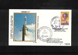 France / Frankreich  1983 Kourou Space / Raumfahrt  Launching Of Ariane Interesting Cover - Briefe U. Dokumente