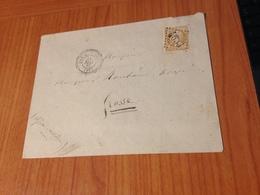 BAR SUR LOUP (06) GC  4633- Indice 6 (pothion ) - Lettre Non écrite 1867  (port à Ma Charge ) - Marcofilia (sobres)
