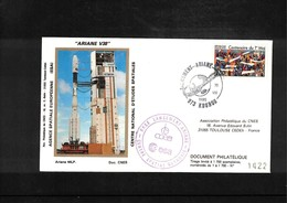 France / Frankreich  1990 Kourou Space / Raumfahrt  Launching Of Ariane Interesting Cover - Briefe U. Dokumente