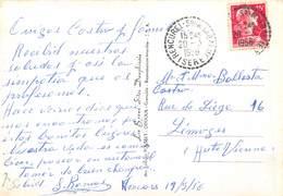 PIE.T.19-9164 : CACHET MANUEL RENCUREL Son DE LA BALME 20 MARS 1956. - Marcophilie (Lettres)