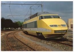 TGV Postal - Rame N°2 Villeneuve-Saint-Georges 17 Septembre 1988 - Trains
