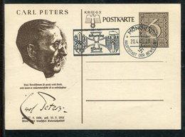 """Deutsches Reich / 1939 / Postkarte """"CARL PETERS"""" Mi. P 285/06 Masch.-Stempel Muenchen """"Geburtstag Des Fuehrers"""" (23172) - Allemagne"""