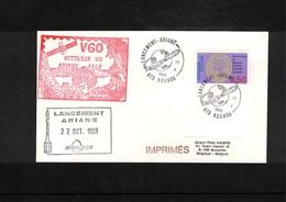 France / Frankreich  1993 Kourou Space / Raumfahrt  Launching Of Ariane Interesting Cover - Briefe U. Dokumente