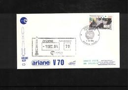 France / Frankreich  1994  Space / Raumfahrt  Launching Of Ariane Interesting Cover - Briefe U. Dokumente