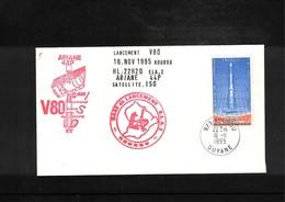 France / Frankreich  1995 Kourou  Space / Raumfahrt  Launching Of Ariane Interesting Cover - Briefe U. Dokumente