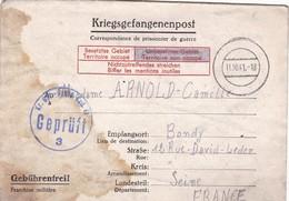 ALLEMAGNE. BONN. CORRESPONDANCE MILITAIRE. KRIEGSGEFANGENENPOST. STALAG VI G. TEXTE DU 21 SEPTEMBRE 1941 - 1939-45