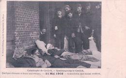 Spoorwegramp Te Contich 21 Mai 1908 Gekwetsten Met Hunne Redders - Kontich