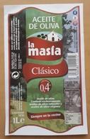 ESPAÑA ETIQUETA ACEITE DE OLIVA LA MASIA. - Etiquetas