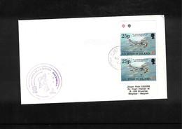 France / Frankreich + Ascension Island 1995 Space / Raumfahrt  Ariane Station Ascension Interesting Cover - Briefe U. Dokumente