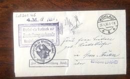 LetDoc. 46. Lettre De Wohlau De 1936. Plusieurs Cachets - Briefe U. Dokumente